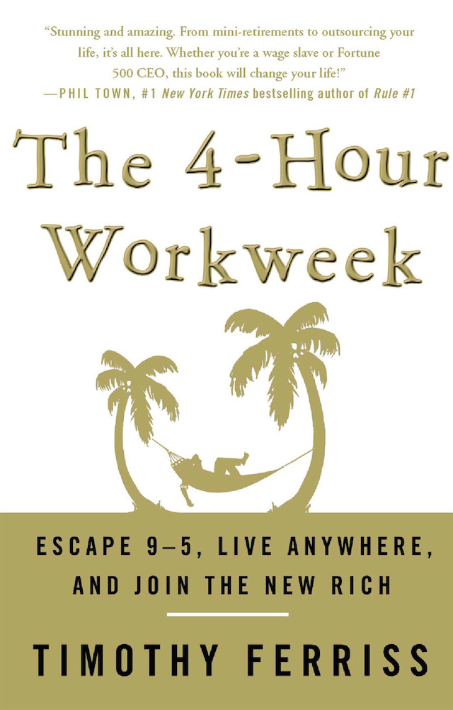 book cover of timothy ferris book the 4-hour work week