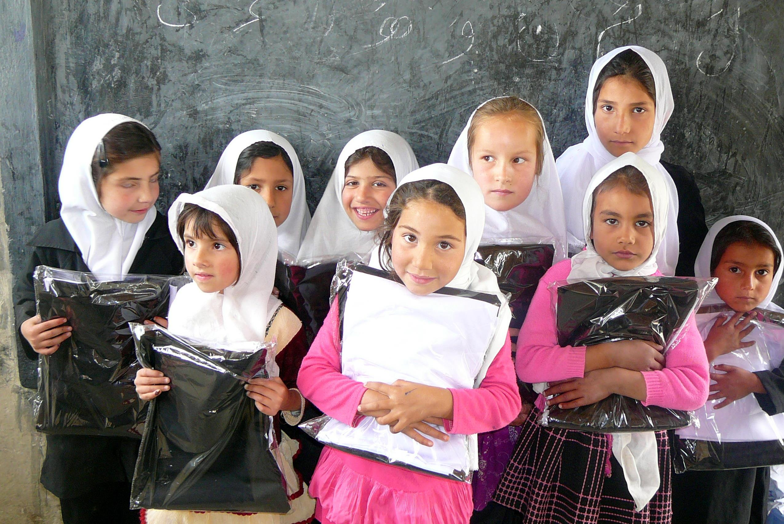 photograph of girl class in the school