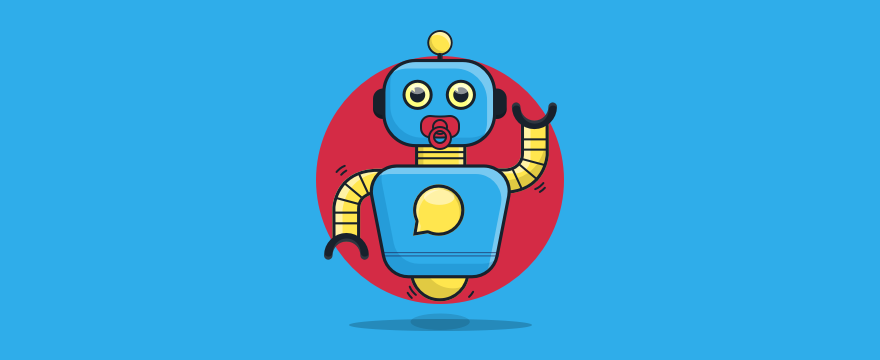 Chatbot with a pacifier.