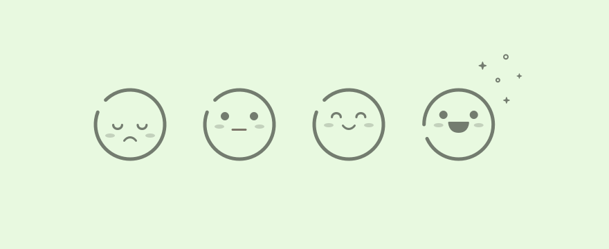 Emoji in varying moods.