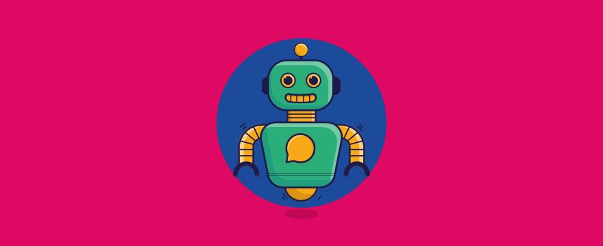 ein freundlicher Chatbot – Header-Bild für Blogbeitrag