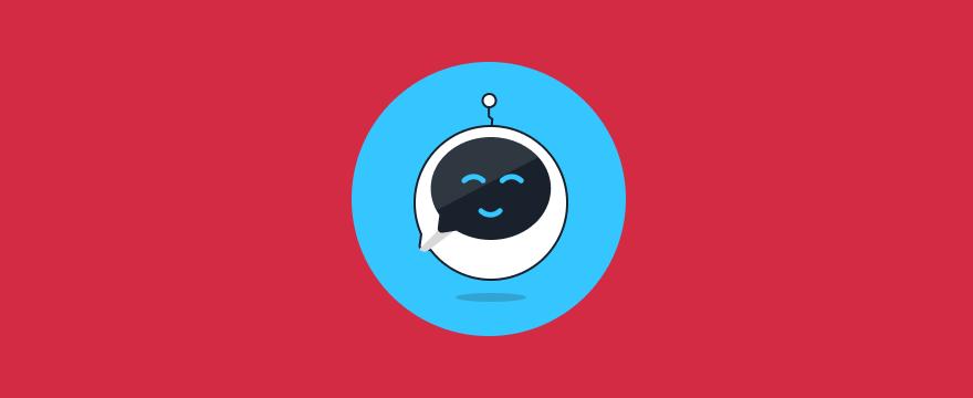 """ein freundlicher Chatbot – Header-Bild für Blogbeitrag """"Chatbot Design"""""""