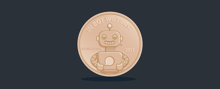 chatbot coin - header image for 4-Step Formula for Calculating Your Chatbot ROI