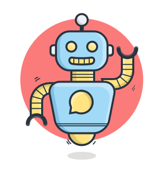 cartoon of a chatbot
