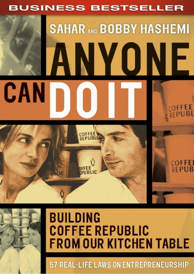 book cover of sahar hashemi book anyone can do it: building coffee republic from our kitchen table