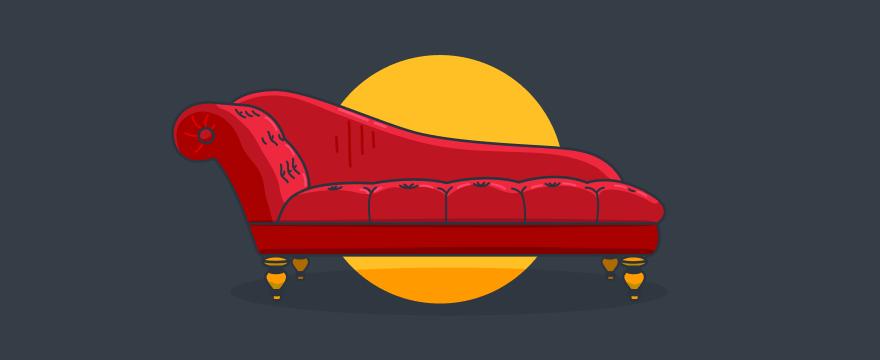 eine Chaiselongue – Titelbild für Blogbeitrag zu Kundeninterviews