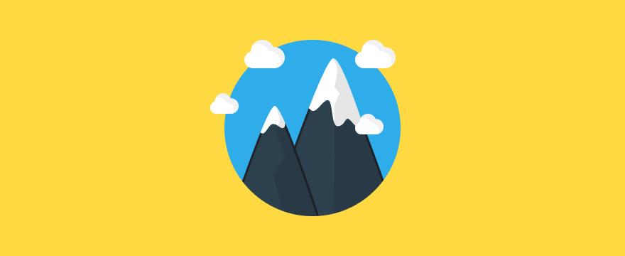Two mountain peaks, symbolizing emotion.