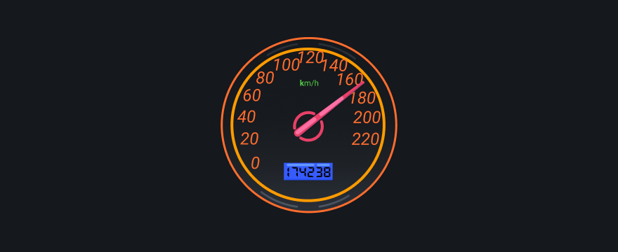 Car speed meter.