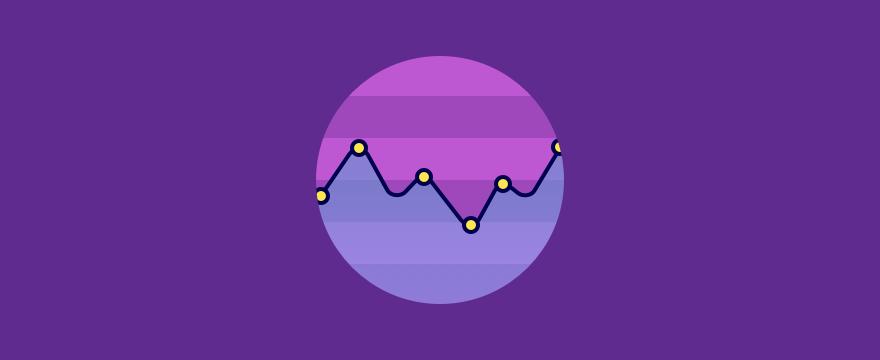 Purple metrics graph.