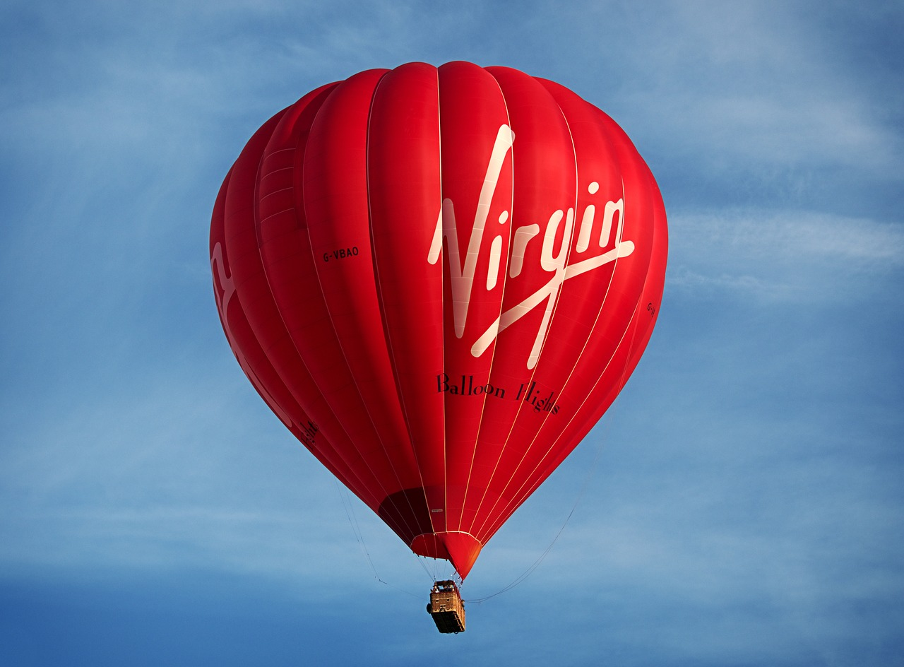 a picture of a Virgin air balloon.