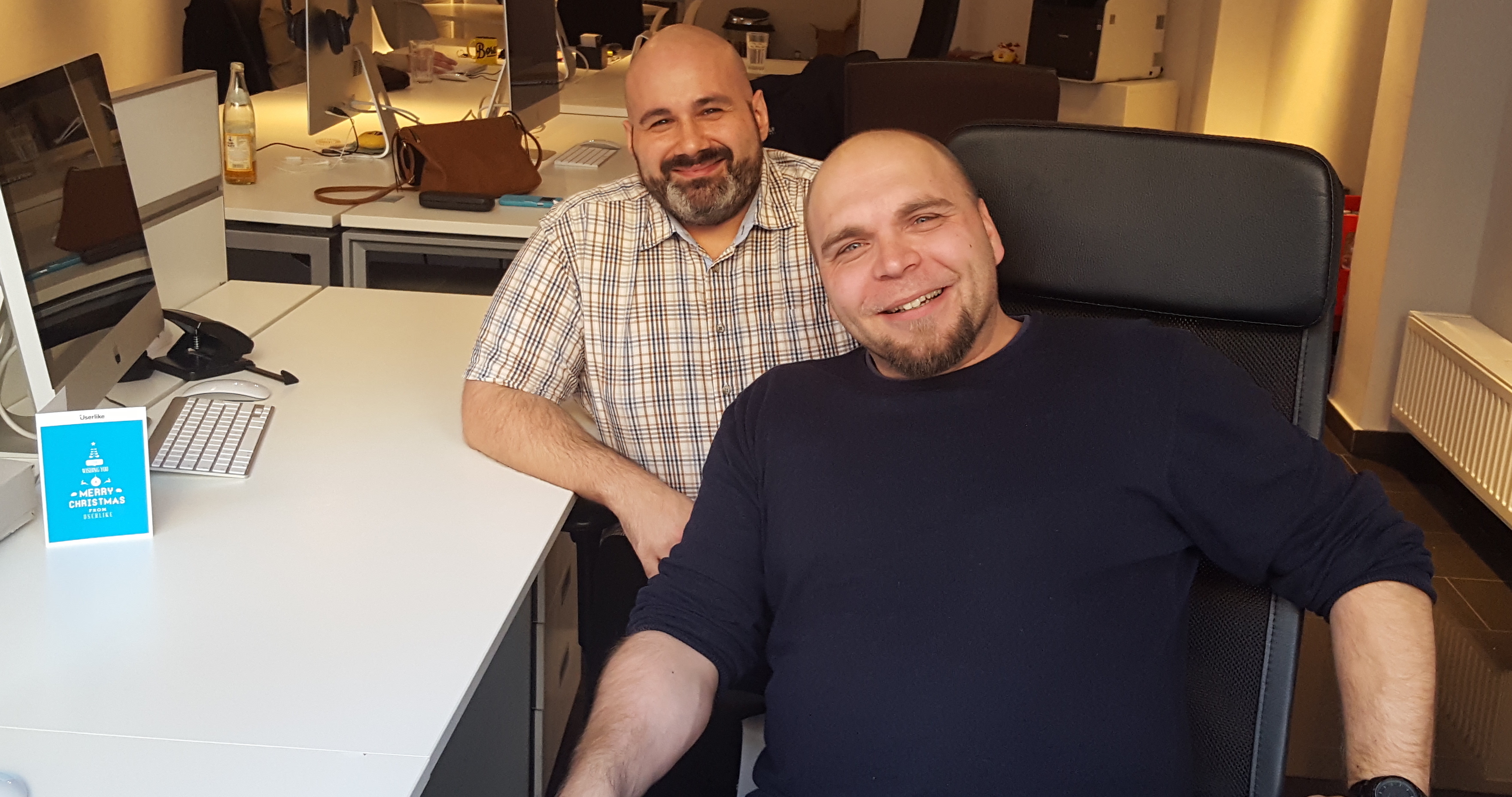 Michael and Jörn, Userlike's customer success duo.