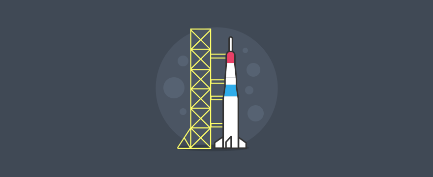 Launch pad with a rocket – header image for blog post on customer service quality assurance checklist