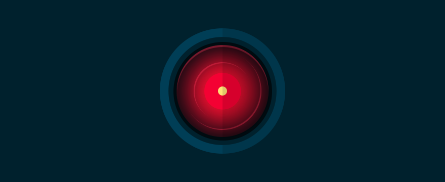 Visualization of HAL 9000 from the series and film Space Odyssey, header image of customer service trends 2016 blog post.