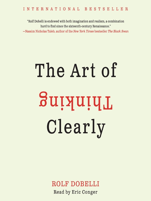Book cover of The Art of Thinking Clearly