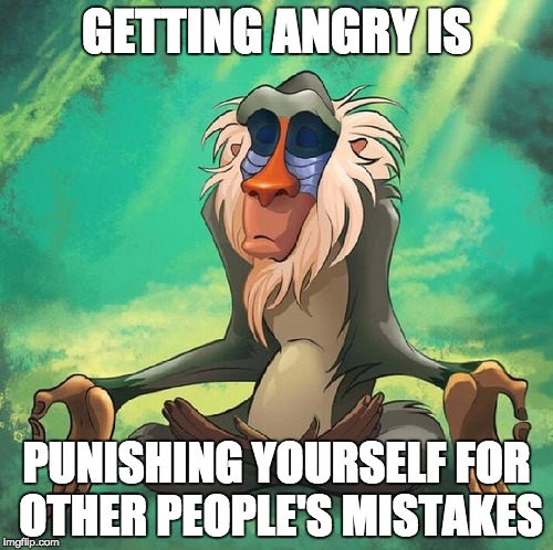 Rafiki from the Lion King would know how to deal with angry customers.