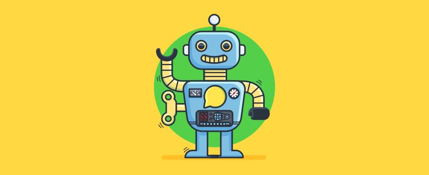 ein Chatbot als Aufziehfigur – Headerbild für Blogbeitrag zur Frage was ist ein Chatbot
