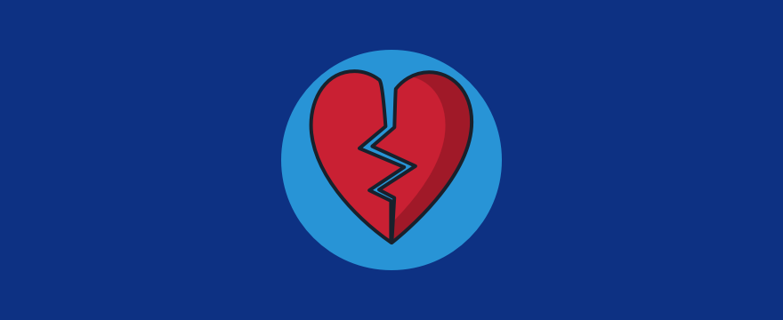 A broken heart, to symbolize bad reviews.