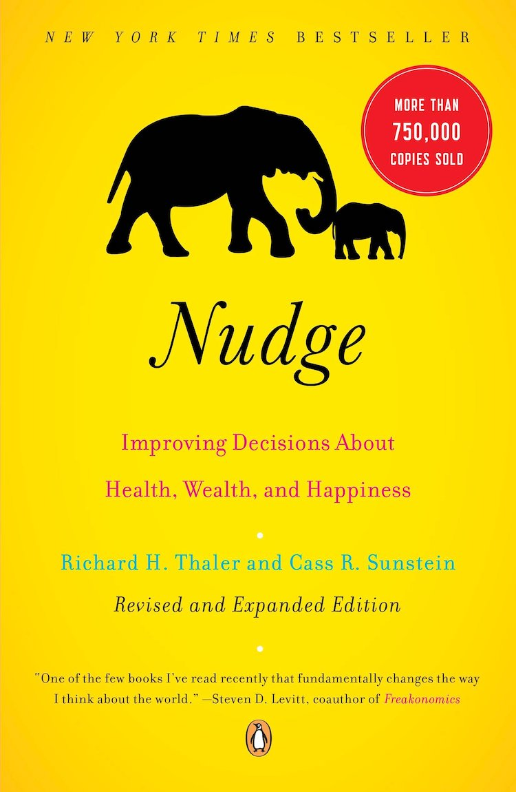 Book cover of Nudge.