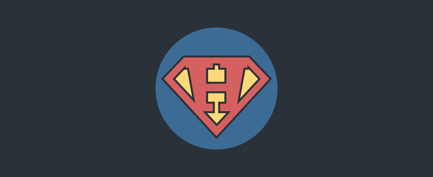 Hiring super hero logo.