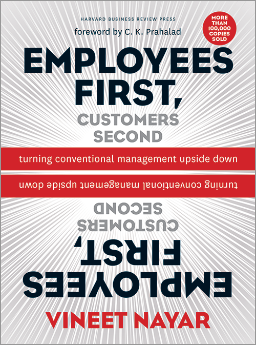 the cover of the book employees first, customers second.