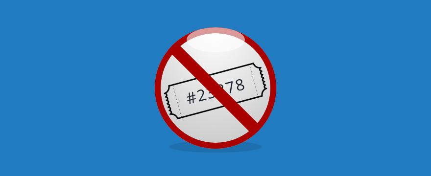 ein durchgestrichenes Ticket – Headerbild für Blogbeitrag
