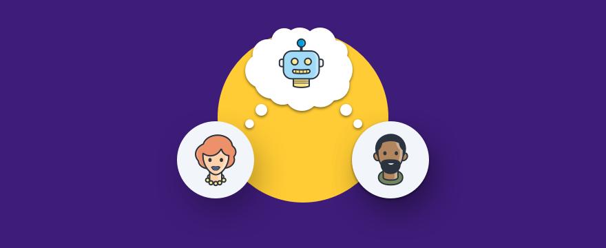 Chatbots und Denkblase – Post über Kundenwahrnehmungen Chatbots