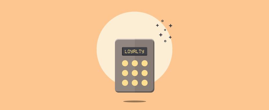 ein Taschenrechner, mit Display-Anzeige 'Loyalty' - Headerbild für Blogbeitrag