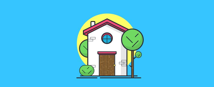 """ein Haus – Headerbild für Blogbeitrag """"Live-Chat Immobilienmakler"""""""
