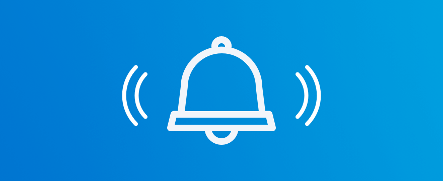 a bell – header image for blog post on live chat notifications