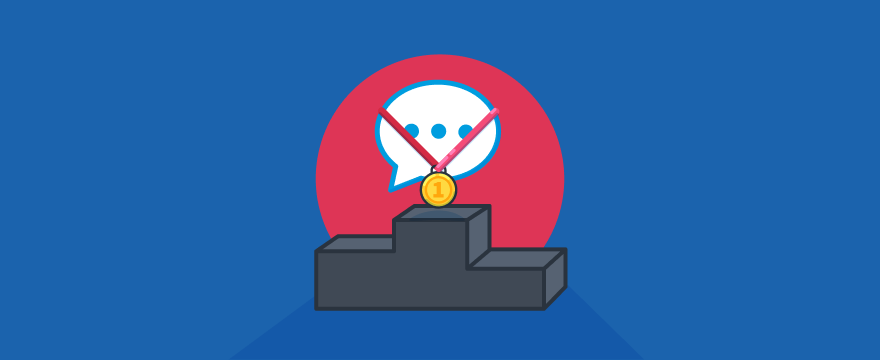 Live-Chat auf dem Siegerpodest – Titelbild für Blogbeitrag zu den besten Anbietern für Live-Chat