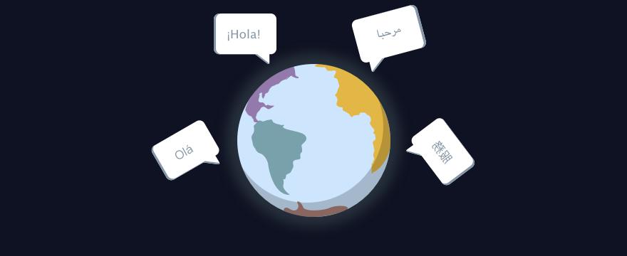 bunte Weltkugel – Headerbild für Blogbeitrag