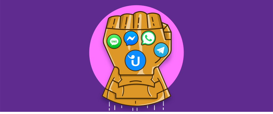 Infinity gauntlet with the best messaging apps for customer service.