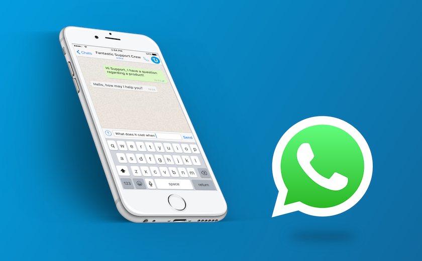 Illustration einer WhatsApp-Kommunikation
