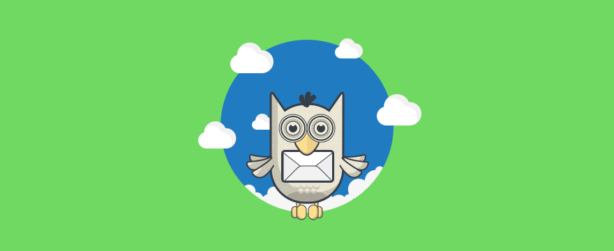 Owl with an envelope.