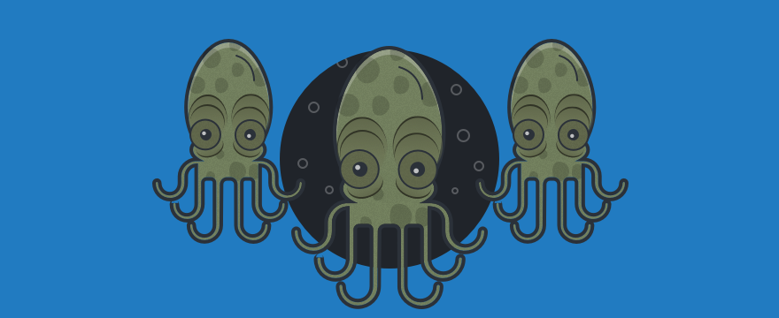 drei Kraken – Headerbild für Blogbeitrag zu Datenkraken Internet