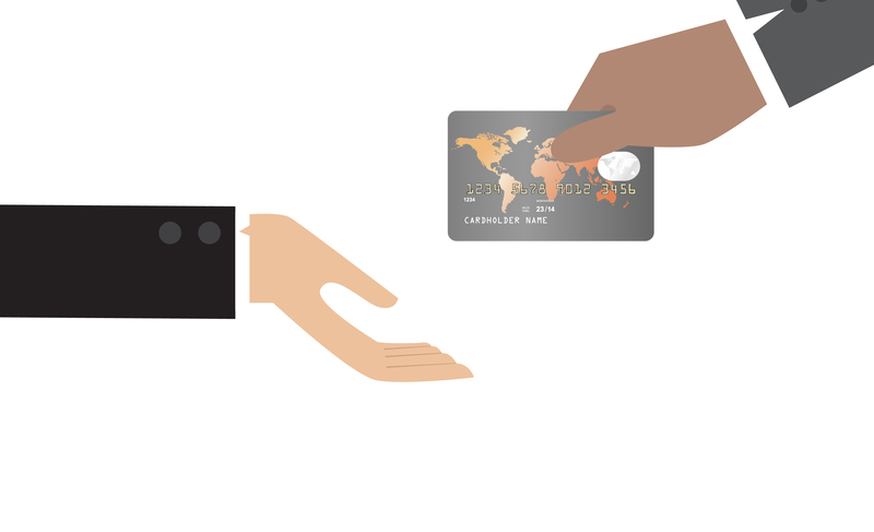 comic of credit card payment handover