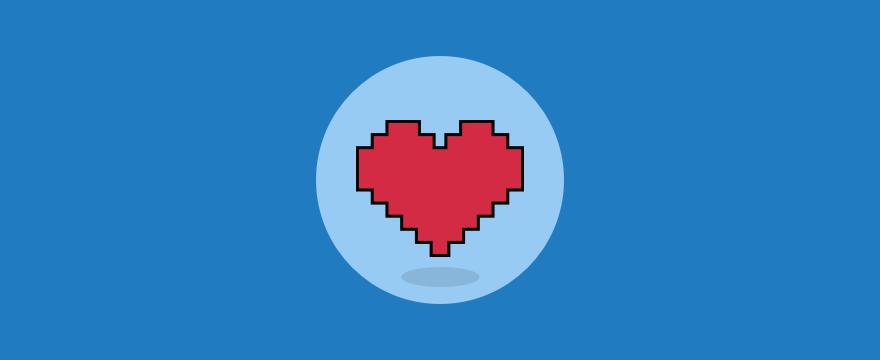 A digital heart.