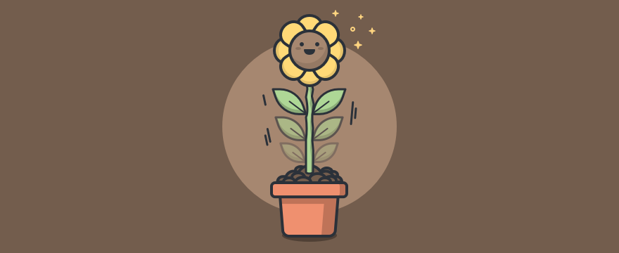 A flower growing - Header image for personal growth plan blog post