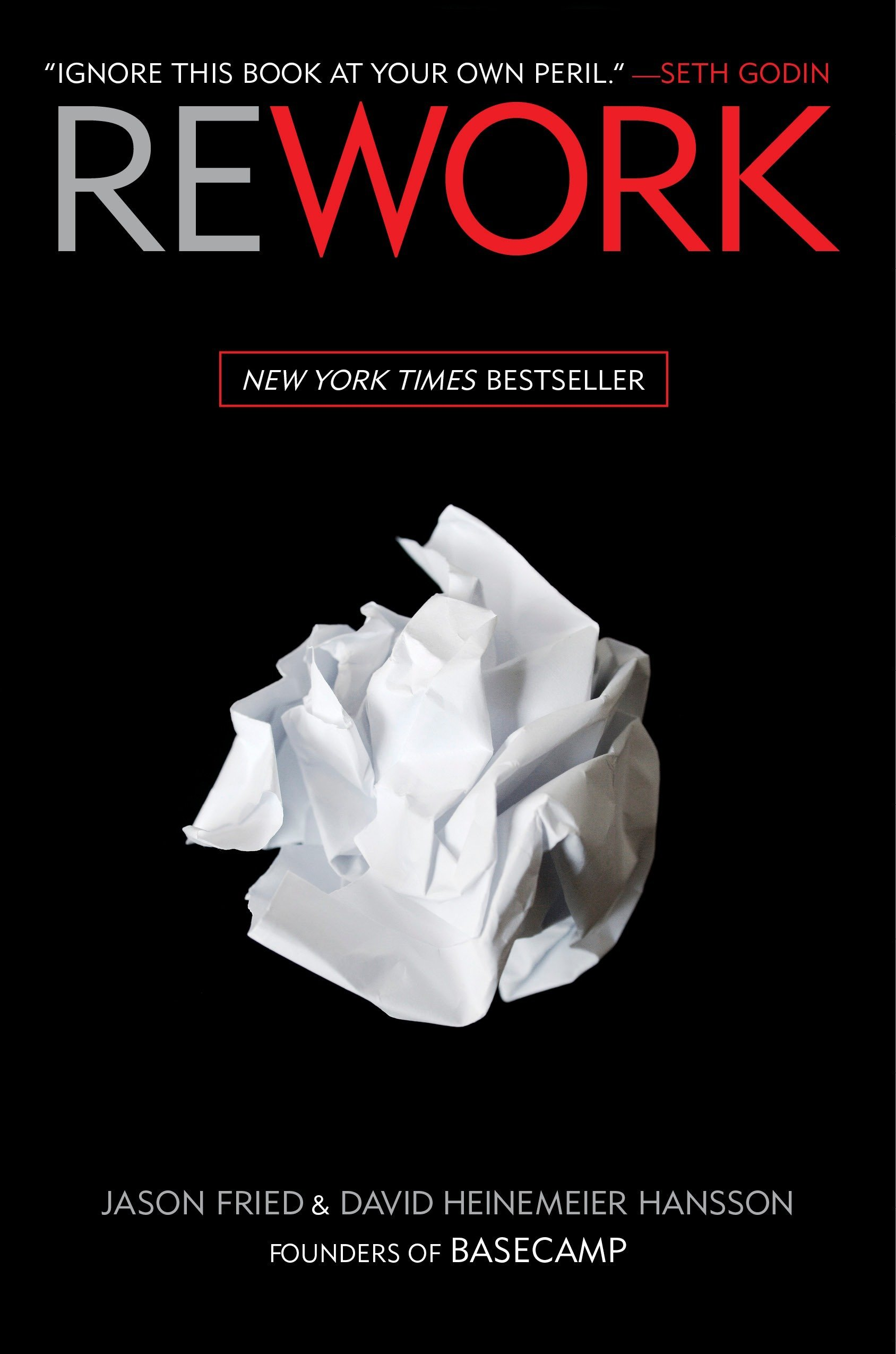 image of book cover of Rework