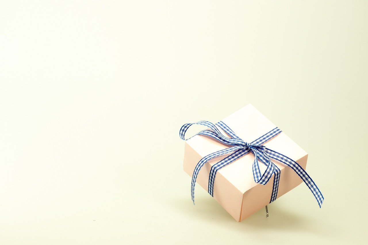 photograph picture of a present box gift