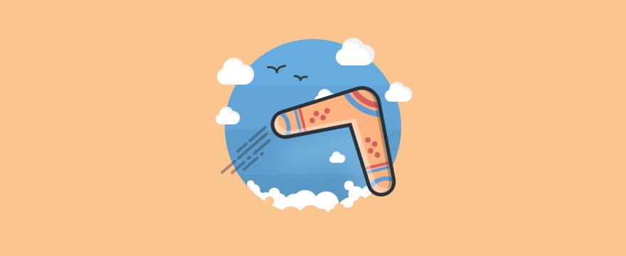 un bumerán – respuestas automáticas