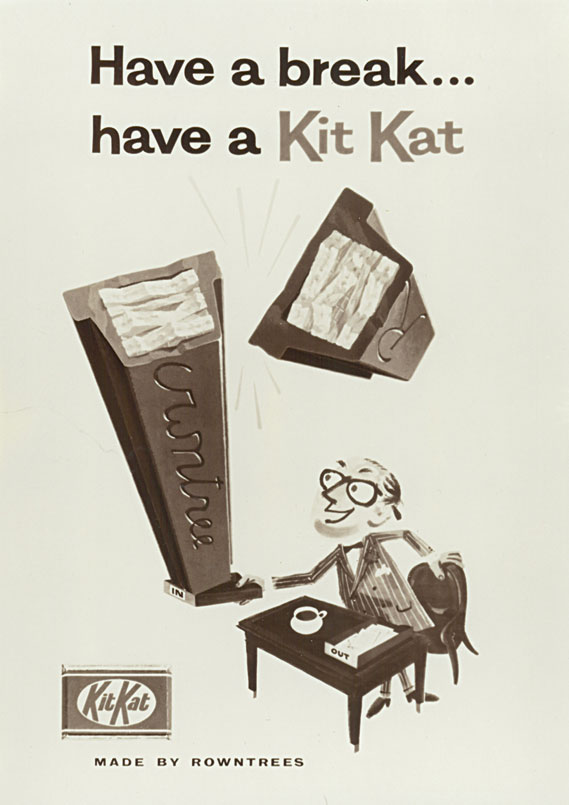 "KitKat ""Have a break"" advertising poster from the late 1950s"
