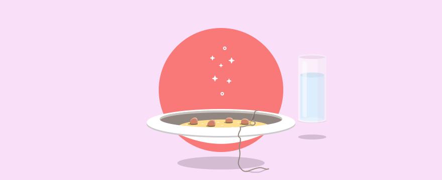 Haar in einer Suppe - Headerbild für Blogbeitrag schlechter Kundenservice