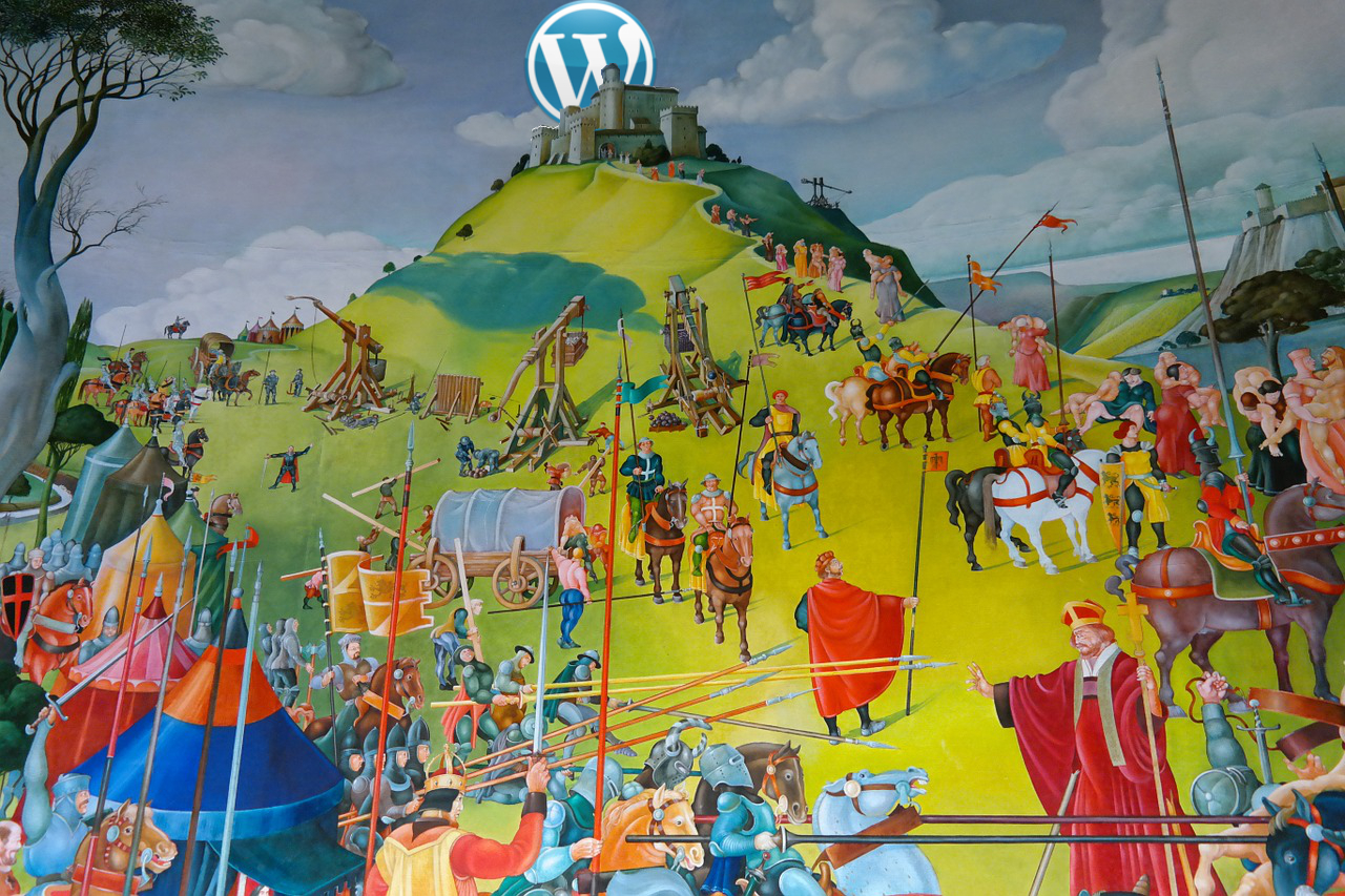 painting of medieval siege wordpress security