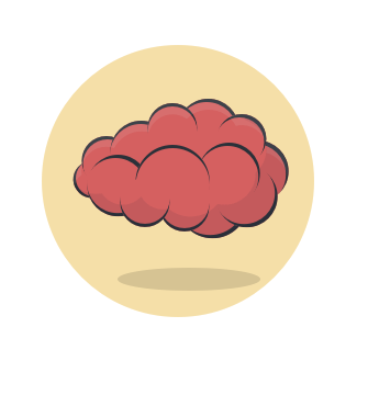 cartoon of a brain