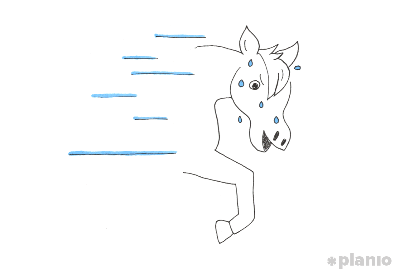sketch of the faster horse