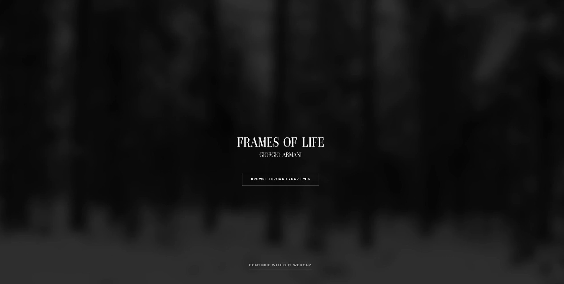 screenshot of frames of life by emporio armani.com