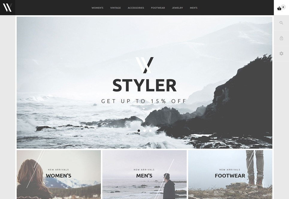 Screenshot Of Styler Webshop Theme