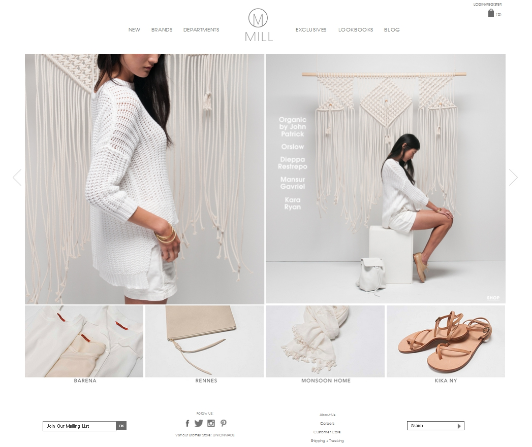 screenshot of white space webshop theme