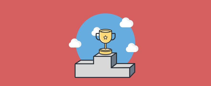 ein Pokal auf dem Podium - Headerbild für Blogbeitrag
